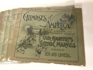 GLIMPSES OF AMERICA 1894 Our Country's Scenic Marvels PEN AND CAMERA, LOT OF 14