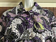Women's COLDWATER CREEK Purple, Green, White Jacket With Sequin Accents ~ Size L