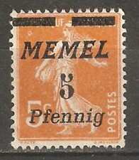 Memel 1922,5pf on 5c,Scott # 50,VF MNG (A-7)