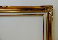 Gold Picture Frame w/ Fabric Lining Traditional Fancy For 24X36 Oil Painting Etc