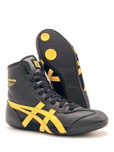 Onitsuka Tiger Wrestling Shoes Size 6 Asics Rare Black Gold