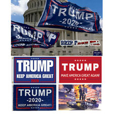 4pc Set Donald Trump for 2020 President Large Flag Keep America Great MAGA 3'x5'