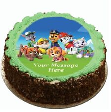 Paw Patrol Team Cake topper edible image icing Birthday Party REAL FONDANT