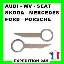 2 clefs extraction démontage façade autoradio audi concert 2 trous a3 a4 a6 top
