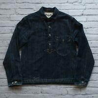 RRL Double RL Ralph Lauren Limited Edition Denim Pullover Krouse Shirt Size M L