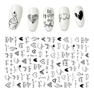Creative New 3D Nail Stickers Cool Nails Accessories Fashion Manicure Stickers