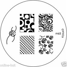 Originale Konad stamping stencil per stamping VERNICE m65