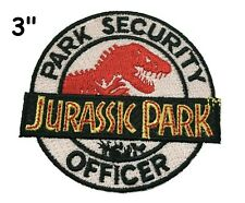 JURASSIC PARK Officer Embroidered Patch Iron-On/Sew-On Dinosaur Costume Applique