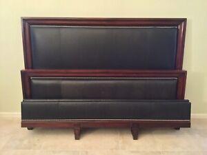 Ralph Lauren Henredon Leather King Bed