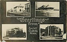 Greetings From St Cloud MN, Multiview RPPC Scuffed