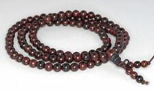 "6mm 108PCS Red Rosewood Prayer Buddha Japa Mala Meditation Loose Beads Round 25"""