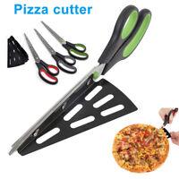 Pizza Scissor Cutter Stainless Steel Scissor Cut Pizza with Detachable Spatula