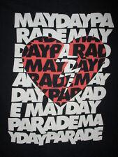 MAYDAY PARADE T SHIRT Band Concert Broken Heart Logo Lightning Bolt Tee MEDIUM