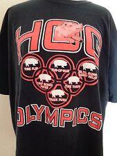 HOG Olympics T-Shirt Size 2XL XXL Black Tire Flip Throw Tug-of-War Truck Push