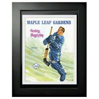 "Johnny Bower Toronto Maple Leafs 1967 NHL Program Cover Photo (14"" x 18"") Framed"