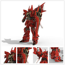 Red Approx 38cm(Height) DIY Gundam UC-MSN-06S Sinanju 3D Paper Model Puzzle Kit