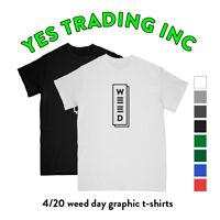 """WEED"" GRAPHIC WEED T SHIRTS TEE MARIJUANA POT CANNABIS PARTY WEED DAY 420"