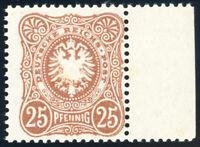 DR 1887, MiNr. 43 II c, tadellos postfrisch, gepr. Zenker, Mi. 100,-
