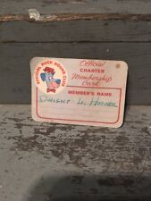 1960 Official Huckleberry Hound Club Official Membership Card Hanna Barbera