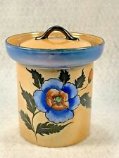Vintage Made in Japan Luster Ware Jelly Jam Condiment Jar w/ Lid Hand Painted