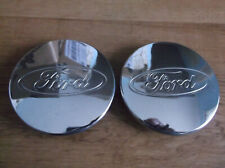 Ford Focus Polished Chrome Plated Center Hub Caps Hubcap 2000-2011 Set of 2