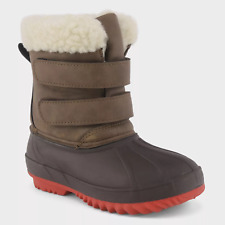 """Cat & Jackâ""""¢ ~ Toddler Boys' Size 4 ~ Brown ~ Barkley Winter Boots ~ Nwt"""