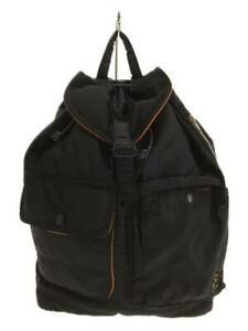 Porter yoshida black nylon button pocket rucksack Backpack made in Japan