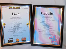 BABY'S FIRST NAME MEANING CHRISTENING/NAMING DAY GIFT