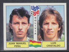 Panini - USA 94 World Cup - # 217 Pena / Cristaldo - Bolivia (Green Back)