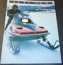 VINTAGE 1981 SKI-DOO BLIZZARD FULL LINE SNOWMOBILE SALES BROCHURE 16 PAGES (802)
