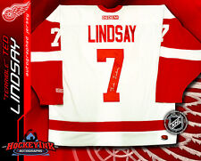 Detroit Red Wings TED LINDSAY Signed White NHL Jersey