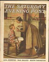 MAY 30 1936 SATURDAY EVENING POST vintage magazine NORMAN ROCKWELL - SICK CHILD
