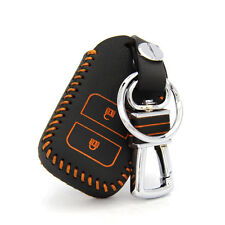 High Quality leather Smart Remote Key Case Cover Holder For Honda Fit 2014