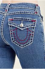 True Religion Women's Curvy Skinny Leg w/Flap Pockets Super T Jeans 33 NWT $286