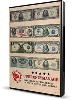 USA Paper Money Collecting Software.  All USA Bank Notes With Values