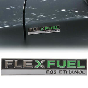 Flex Fuel E85 Ethanol Car Emblem Insignia Sticker Decal for Dodge Chrysler Metal
