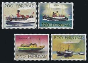 Faroe Islands: 1992 Mail Boats (232-235) MNH