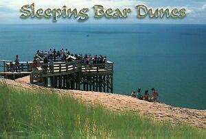 Sleeping Bear Dunes National Lakeshore Park near Empire Michigan Sand - Postcard