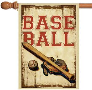 Toland Vintage Baseball 28 x 40 Sport Ball Bat Glove Game House Flag