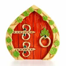 Miniature Fairy Garden Mini Door w/ Leaves - Buy 3 Save $5