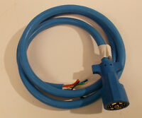 Arctic Blue 7 Way Trailer RV Cord Cold Weather Wire Double Connector Plug 6ft