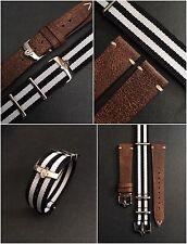 # speedytuesday 20mm Vintage in Pelle & Cinturino Nato ® Set per Omega Speedmaster