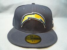 sports shoes 3d495 cec36 San Diego Chargers 7 1 2 Navy Blue Fitted Cap Era 59fifty Hat NFL