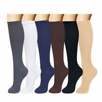 Compression Socks 15-20 mmHg Relief Calf Foot Support Stocking Men Women S-XXL