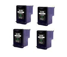 4PK NON-OEM INK FOR HP 98 C9364WN BLACK PhotoSmart C4110 C4150 C4188 D5060 D5145