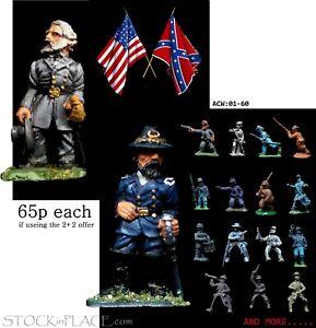 AMERICAN CIVIL WAR > 28mm Metal Figures > BUY 2 get 2 MORE FREE ! - see notes...