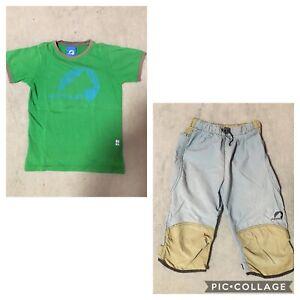 FINKID T-Shirt HURJA 110/116/120 grün und FINKID Hose 110/116/120
