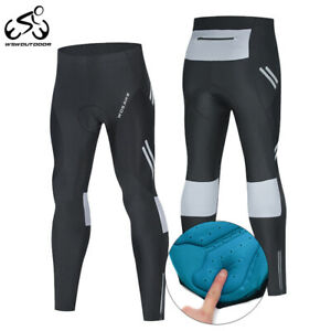 Mens Cycling Pants Gel Padded Breathable Tight Fit Trousers MTB Bike Ride Sports