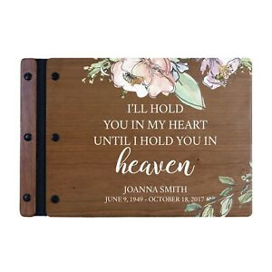 Custom Memorial Funeral Guest Book for Loss of Loved One 12x8 - I'll Hold You