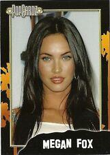 "Megan Fox.  POPCARDZ #24 Trading Card. In Protective Sleeve ""Transformers"""